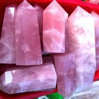 Natural Colored fluorite Quartz Crystal Point Wand Crystal Quartz Tower Crystal Obelisk Flat Bottom Healing Crystal gemstone