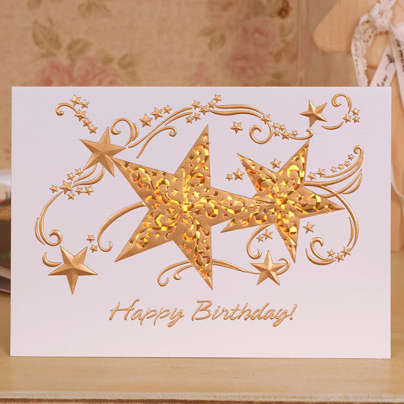 Colorful birthday greeting card business greeting card Korean high ...