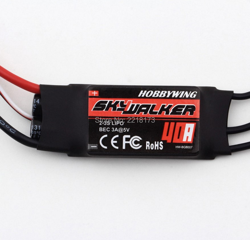 100 Original Hobbywing SkyWalker Brushless ESC 40A With BEC For RC Quadcopter Parts Free Shipping airplane