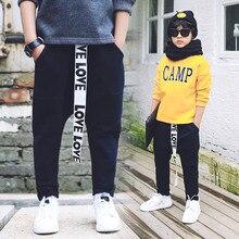 Cuhk тун тун мальчик досуг брюки Прилив новых 2016 зимние дети хан издание добавляет 8627 мешковатые штаны