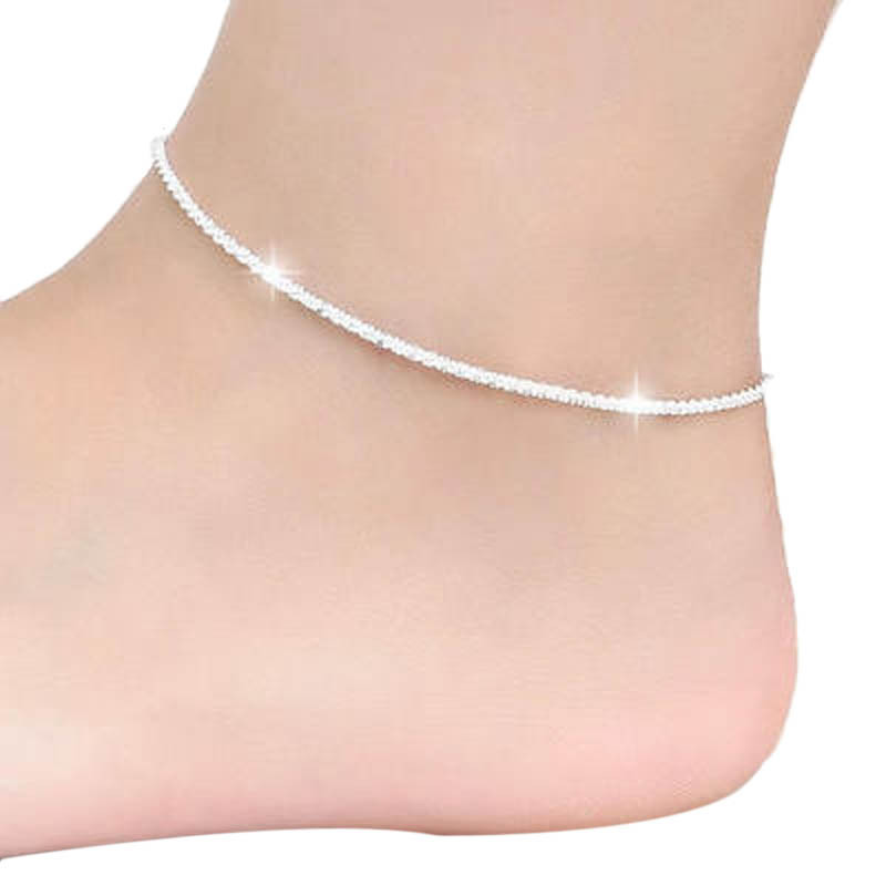 Fashion Trendy Hemp Rope Women Chain Ankle Bracelet Barefoot Sandal Beach Foot Jewelry For Lady Round Anklets Femme J20