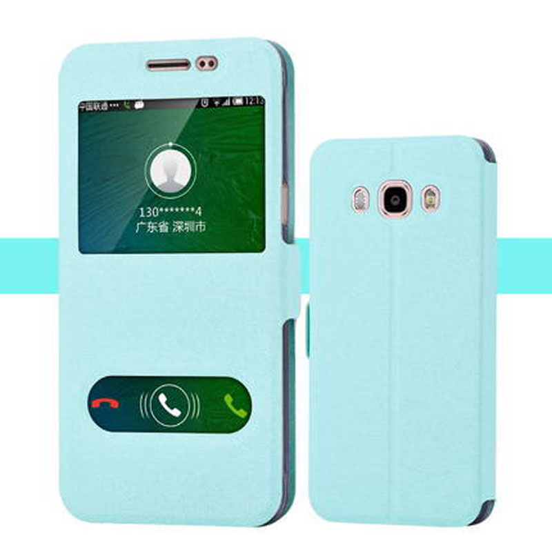 Fast Ship For Samsung Galaxy <font><b>J5</b></font> 2016 J510 J 5 J <font><b>510</b></font> Case Cover Original Flip PU Leather Phone Case Cover Shockproof image