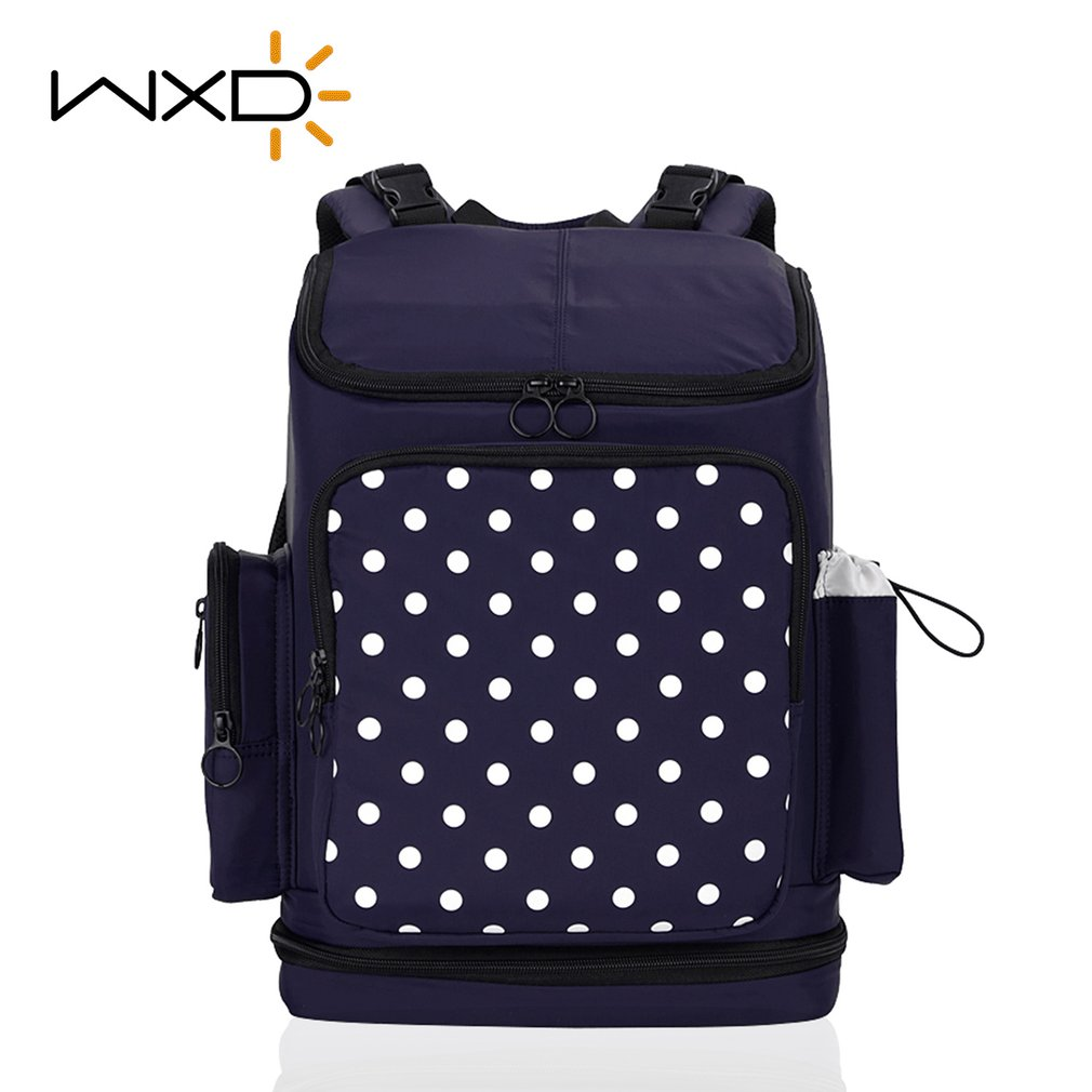 WXD Travel Large Capacity Diaper Mummy Backpack For Mother Baby Maternity Stroller Accessories Multifunctional Nappy Mom Bag fashion mummy bag travel baby diaper bag large capacity multifunctional baby diaper backpack red