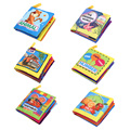 Soft Cloth Book Baby Kids Children Colorful Early Educational Cartoon Book Toys Animal/Ocean/Traffic/Number/Vegetable/Fruit