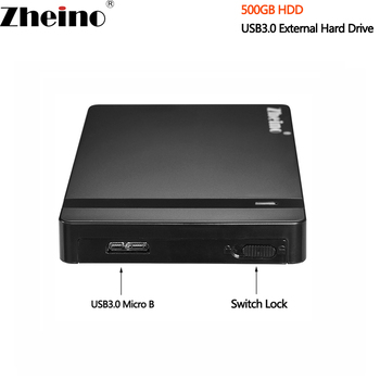 New 2.5 inch USB3.0 500GB HDD External Hard Drive 16MB Cache 5400RPM Portable Hard Disk Drive For Desktop Laptop