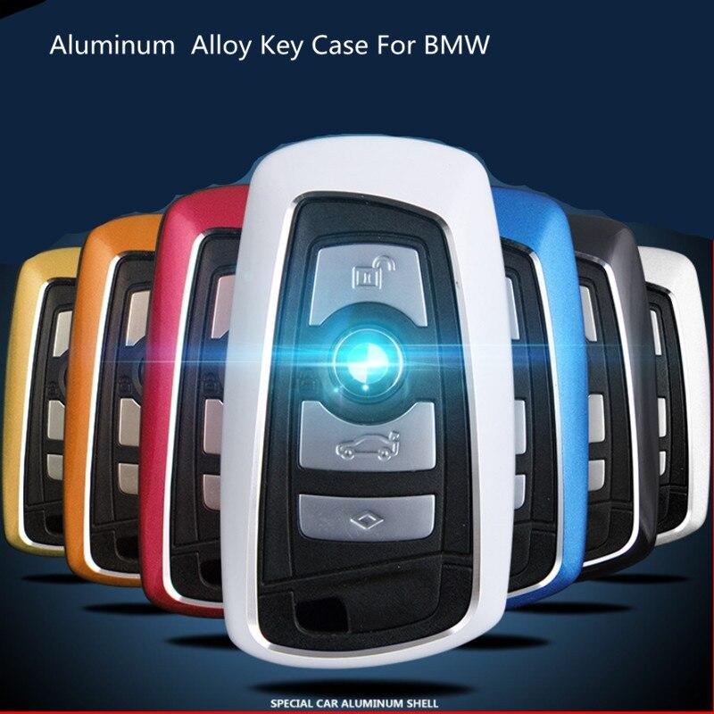 Boîtier de clé de voiture en alliage d'aluminium pour BMW série 5 525li 320X1X3X4X6 accessoires de luxe