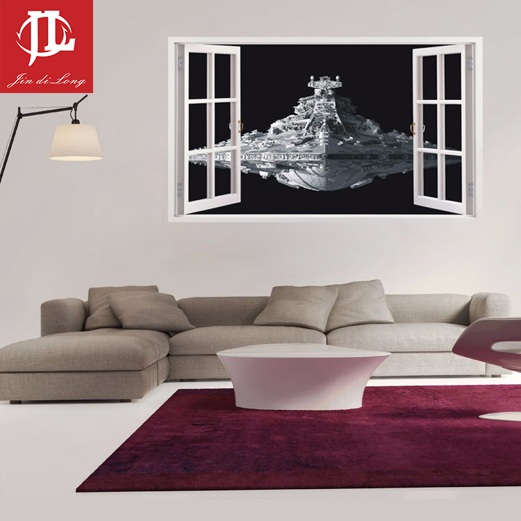 New Design Star Wars Stickers 3d Star Destroyer Waterproof Wall Stickers Removable Wallpaper Home Decor Art Clone 60 100cm Decoration Art Sticker Removerremovable Wallpaper Aliexpress