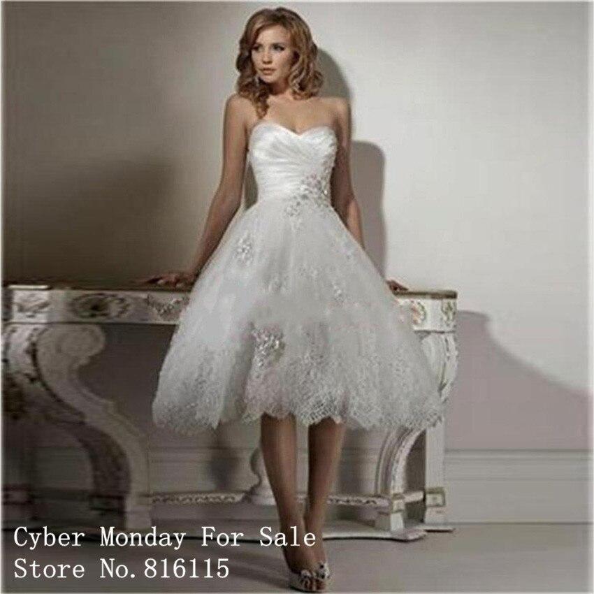 Popular Strapless Short Wedding Dress-Buy Cheap Strapless Short ...