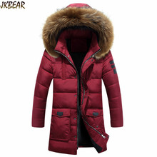 2016 Winter Warm Cotton-Padded Parkas with Big Faux Fur Hood for Men Male's Hooded Thicken Bubble Puffer Coats Plus Size M-3XL