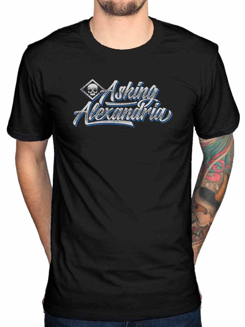 Official Asking Alexandria Black Shadow T-Shirt Afterlife Reckless Relentless