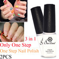 Saviland 2PCS 3 in 1 nail gel polish choose 2 colors soak off UV gel polish long lasting high quality French Manicure kit