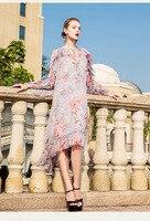 Новинка 2018 Высокое качество модные платье для подиума летние платья Для женщин бренда Элитная одежда Женская одежда A0883