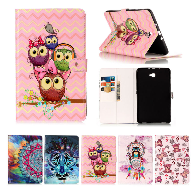 Funda For Samsung Galaxy Tab A 10.1 PU Leather Cover Stand Case For Samsung Galaxy Tab A 10.1 (2016) T585 T580 SM-T580 tablet fashion pu leather flip case for samsung galaxy tab a a6 10 1 2016 t580 t585 sm t580 smart case cover funda tablet sleep wake up