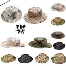 Sun Hat Panama Bucket Flap Breathable Boonie Multicam Nepalese Camouflage Hats Outdoor Fishing Wide Brim String hats
