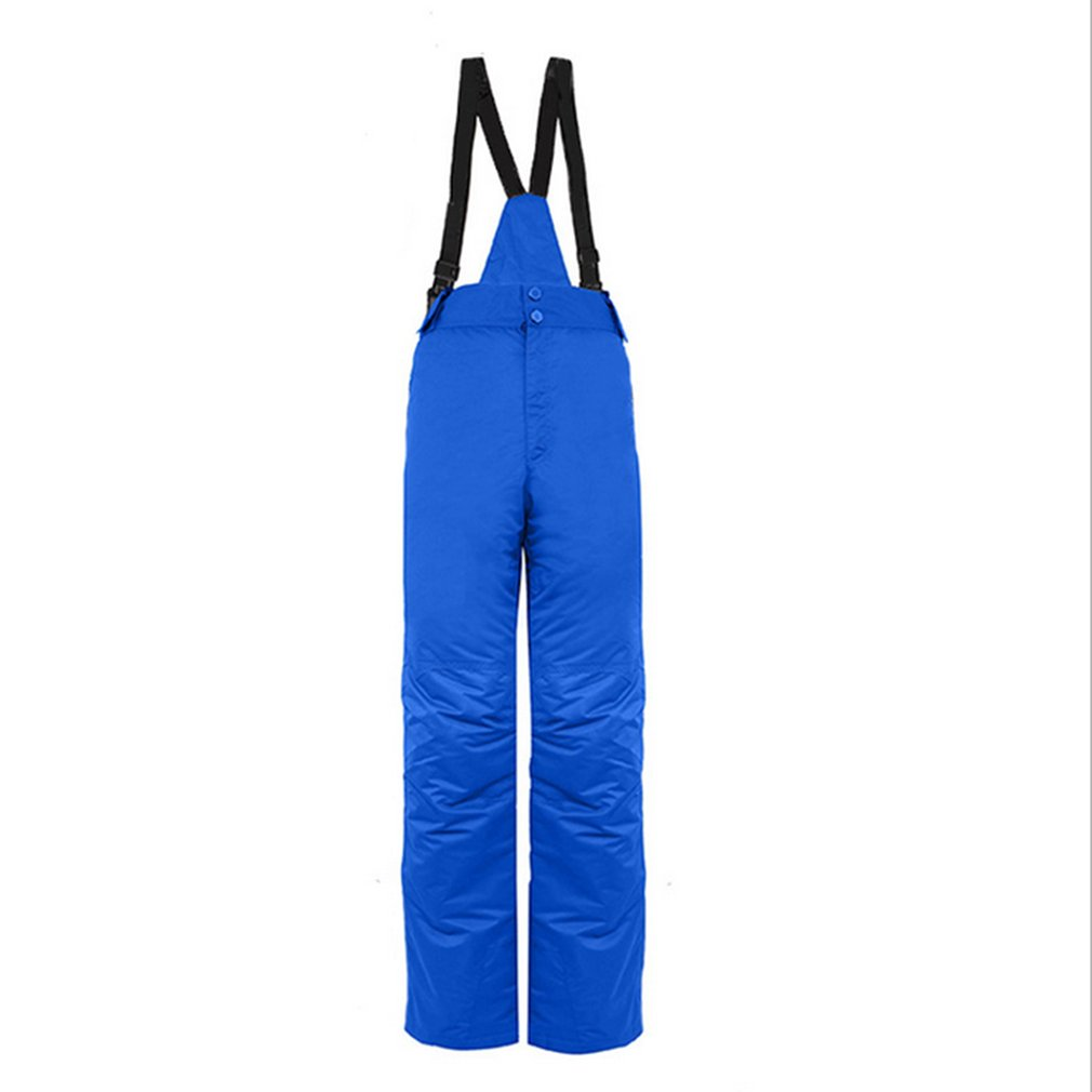 Men Male Outdoor Ski Winter Waterproof Windproof Thicken Warm Snow Pants Rompers For Skiing And Snowboarding