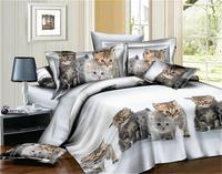 BEST.WENSD Lovely animal Large double bed set 2019 Home Textile King size bed set,bedclothes,duvet cover flat sheet pillowcases