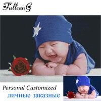 Popular Personal Customized Or Family Photo Diy Diamond Painting Cross Stitch Full Square Diamond Embroidery Fashion