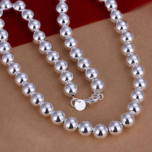 high quality 2015 925 sterling silver jewelry statement fashion fine silver 10mm wide Buddha beads men necklace low price CN097