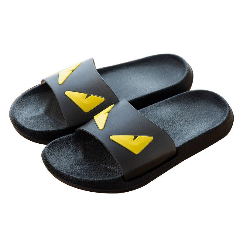 COOLSA Men's Summer Non-slip EVA Monster Slippers Couples Home Anti-slip Slippers Women's White/Black Slippers Drop Shipping
