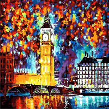 Night London Abstract Painting By Numbers On Canvas Coloring Cuadros Decoracion Drawing Wall Picture For Living Room