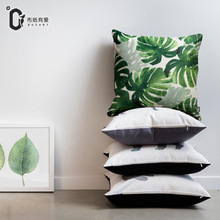 Buzart Tropical Plants cushion cover 45*45cm for home without pillow inner modern art pillows cover