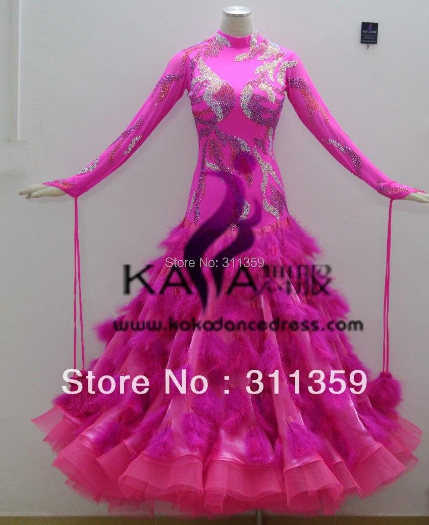 KAKA DANCE B1405, nieuwe roze kleur struisvogelveren ballroom - Nieuwe items