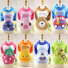 The New Cartoon Pet Dog Cat Clothes Cute Hoodie Hooded Sweater Fall Winter Clothes Casual Warm Dog Coat Fashion Pet Jacket XS-XL