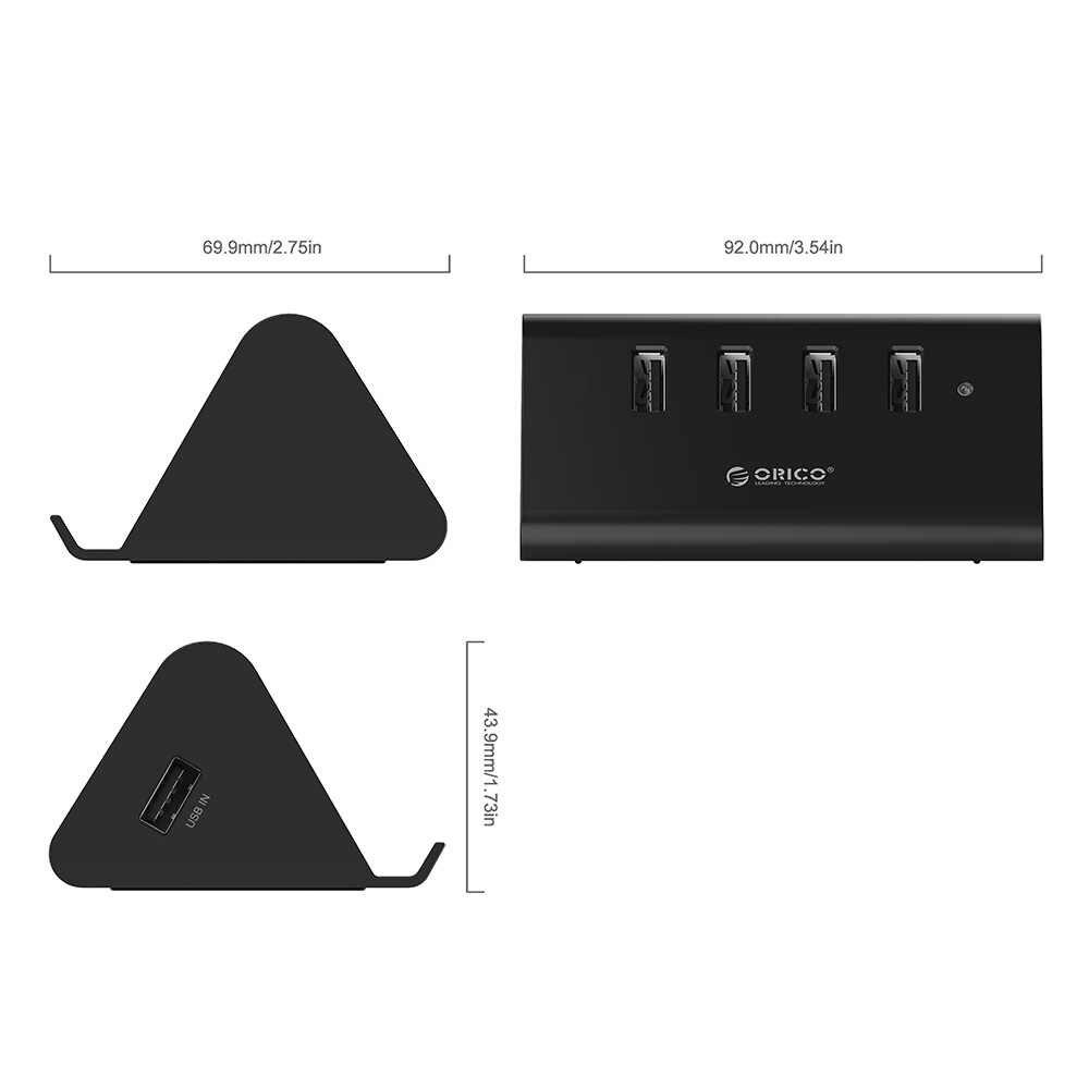 ORICO HUB USB Haute Vitesse Mini 4 Ports USB 2.0 Portable OTG Moyeu Splitter avec Téléphone support pour samsung iPhone Ordinateur Portable Macbook