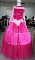 free shipping walson instyle 2015 Sexy Ladies Aurora Sleeping Beauty Ladies Adult Costume Pink Princess with petticoat M XL