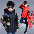 2017 It is waterproof, windproof, breathable, children's jacket, outdoor sports children's jacket, warm jacket two-piece outfit