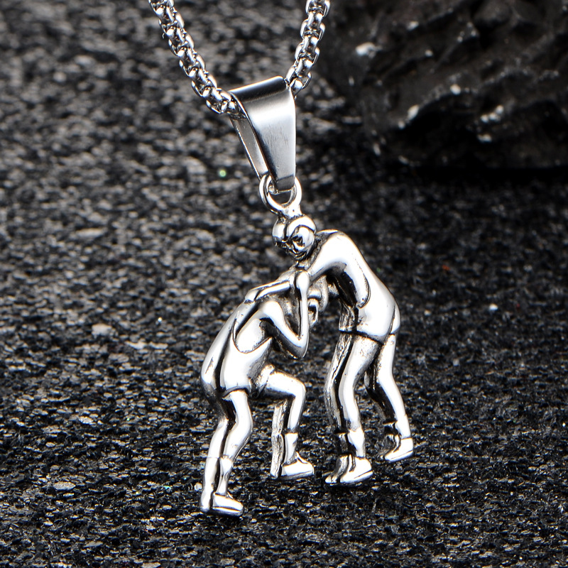 Mjartoria fitness kickboxing wrestling stainless steel necklace mjartoria fitness kickboxing wrestling stainless steel necklace pendants for men titanium steel fashion necklaces in pendant necklaces from jewelry aloadofball Image collections