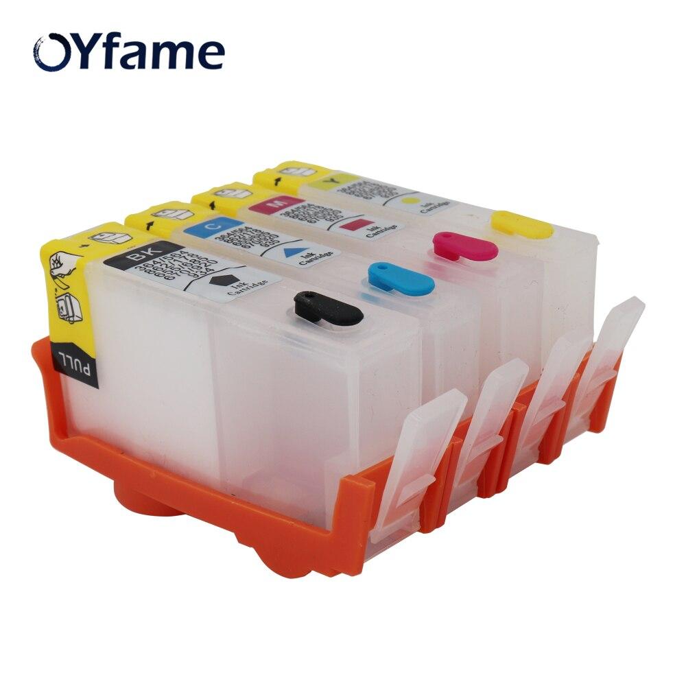 4 cores para hp 655 para hp655 vazio cartucho de tinta recarregável com chip resettable para hp deskjet 3525 4615 5525 6525 impressora