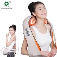 JinKaiRui U Shape Massager Electrical Infrared Heating Vibrating Shiatsu Kneading Back Neck Shoulder Massage Body Massagem