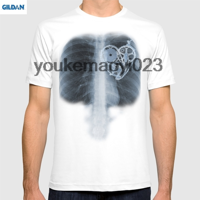 GILDAN X Ray Bicycle heart components for men t shirt