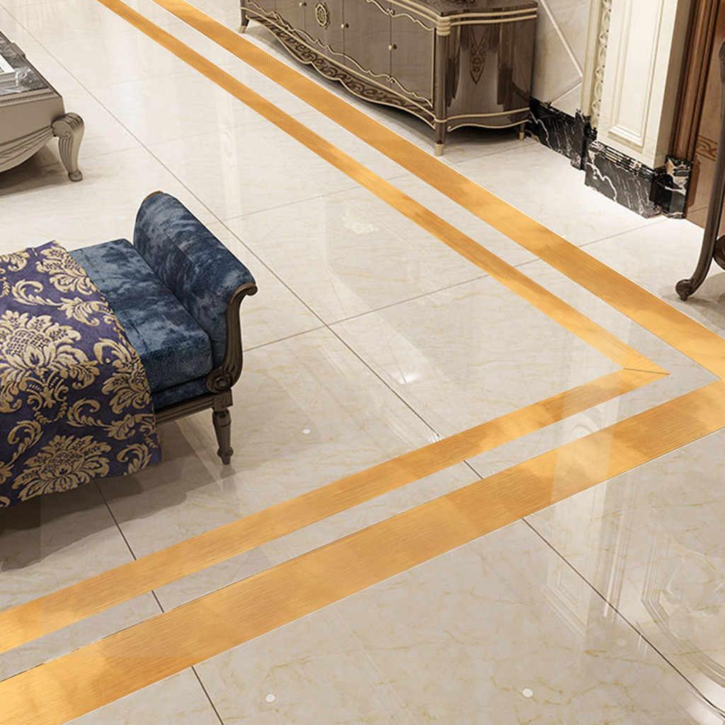 Золотая фольга напольная плитка украшение для комнаты пола кривизна наклейка