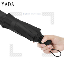 YADA Wholesale Mini Solid Color Design Folding Rainy Business Umbrella Anti-UV Rainproof Sun Protection Parasol YD066