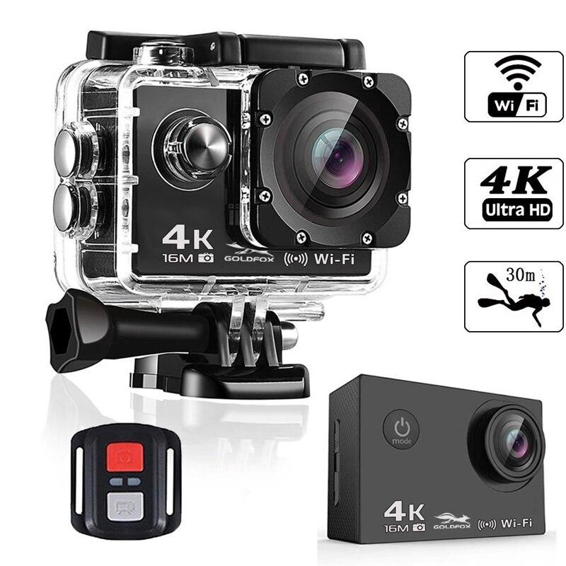 2 pouces LCD écran HD 4K caméra d'action avec 2.4G télécommande WiFi caméscopes vont étanche pro DV enregistreur vidéo Sport caméra