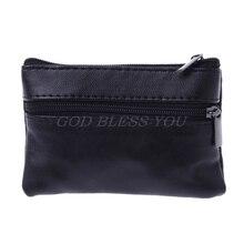 Мягкий кожаный кошелек на молнии для мужчин и женщин с отделением для карт и монет, сумка-кошелек, подарочные сумки для хранения