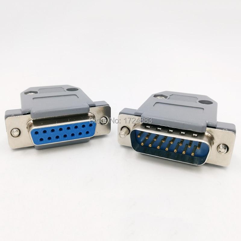 Разъем DB15, 2-рядное отверстие/штырьковый разъем, гнездовой разъем, адаптер D Sub DP15 + Корпус