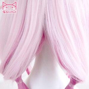 Image 3 - 【AniHut】Yuzuriha Inori Wig Gulity Crown Cosplay Wig Pink Synthetic Hair Anime Gulity Crown Yuzuriha Inori Cosplay Hair