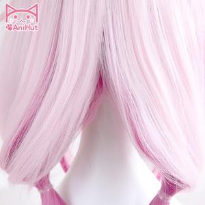 Image 3 - 【Anihut】yuzuriha Inori Pruik Gulity Crown Cosplay Pruik Roze Synthetisch Haar Anime Gulity Crown Yuzuriha Inori Cosplay Haar