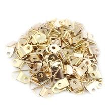 100 шт Золотой d-кольцо Висячие картины масло шаблон для рукоделия рамочные крючки вешалки горячая распродажа