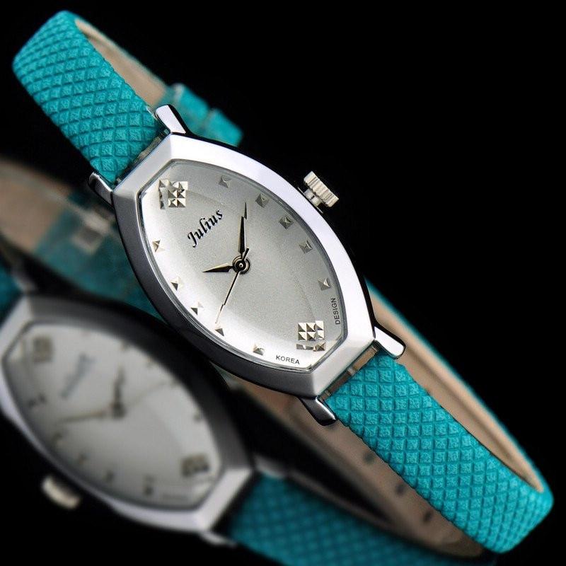 Women s Watch Japan Quartz Hours Clock Fine Fashion Dress Bracelet Band rhombus Multi color Leather