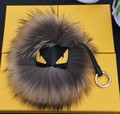 Trendy Little Monster Bag Charm Fur Pom Poms Keychains Luxury Car keychains Pendant of Fox fur Bird monster Free Shipping