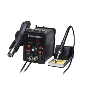 Image 3 - New Eruntop 8586D+ Double Digital Display  Electric Soldering Irons +Hot Air Gun SMD Rework Station Upgraded from 8586