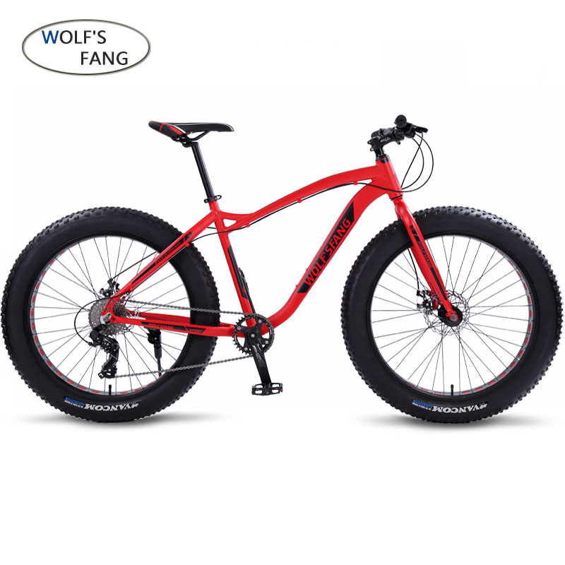 wolf's fang Bicycle Mountain Bike Road Fat bike bikes Speed 26 inch 8 speed bicycles Man Aluminum alloy frame Free shipping image