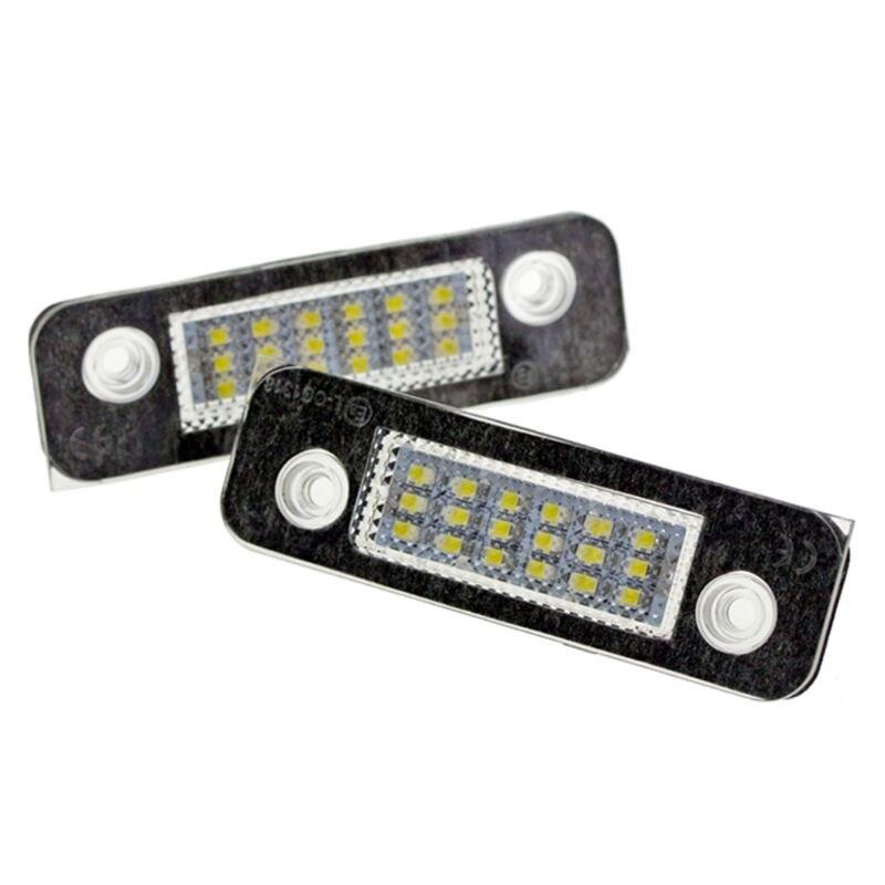 2Pcs 12V 18 LED Car License Plate Light White Number Lamps SMD For Ford Fusion for Mondeo/MK2 Fiesta MK5