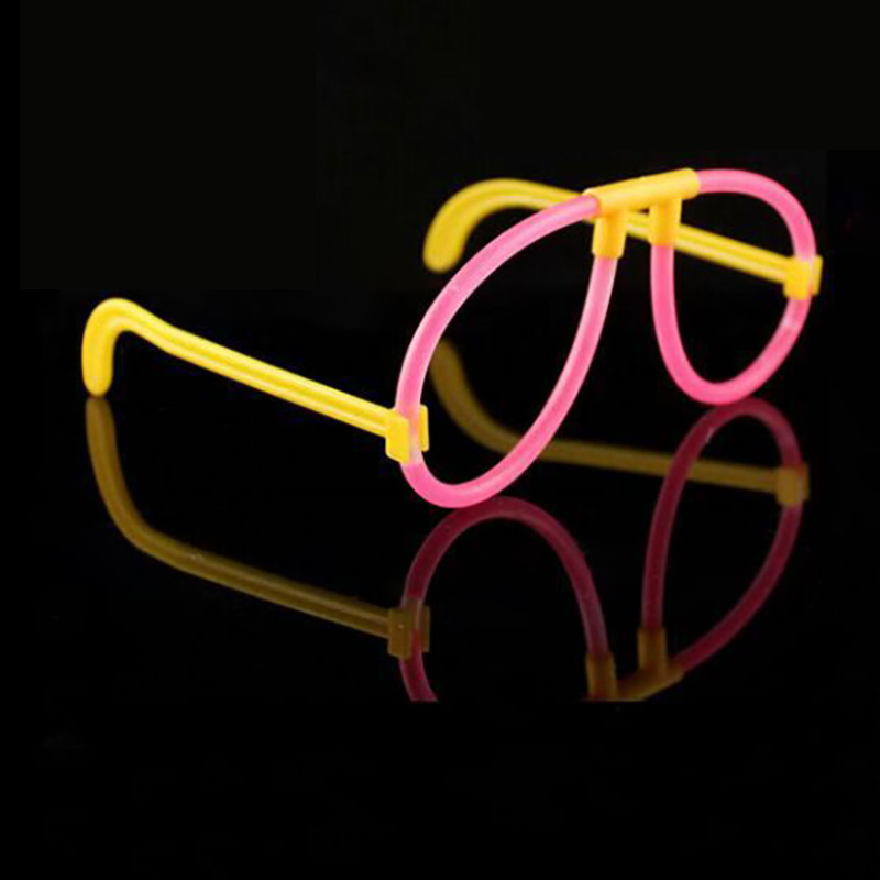Simple Lovely Round Glow Glesses Glow Stick Eyeglasses Light Sticks 100pcs Glow Sticks + 10/20/30/40/50pcs Eyeglasses Tools