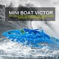 Crea juguetes Victor 4CH 27 / 40 Mhz Mini RC Racing barco lancha alta velocidad de Control remoto modelo de juguete electrónico blanco azul