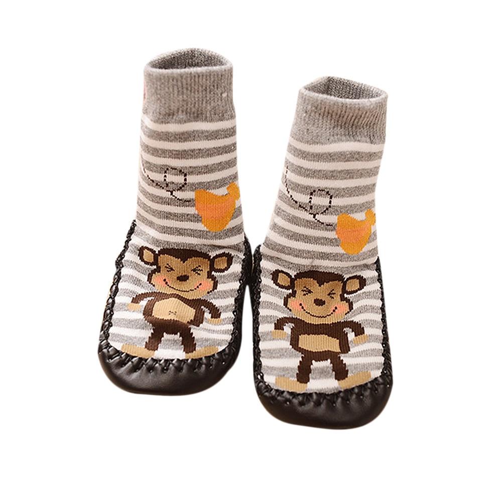 Kids Baby Newborn Cartoon Socks Anti-slip Shoes Floor Sock Boots Slipper Socks